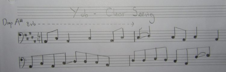 '8vb' means play an octave lower than notated.